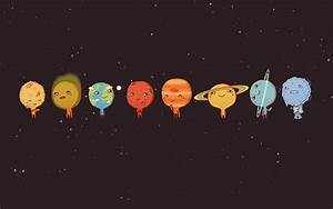 Minimalistic Solar System planets little simple background ...