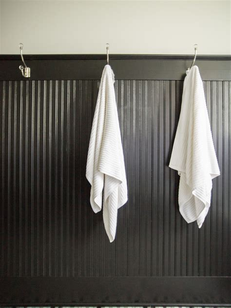 Black Beadboard  Transitional  Bathroom  Kristin Petro