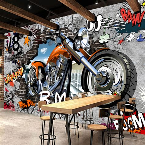 high quality custom wall murals wallpaper motorcycle
