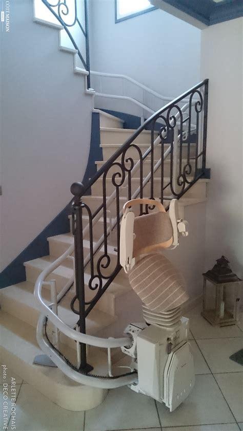 amenagement d une montee d escalier pour une personne a mobilite reduite arlette rochais c 244 t 233