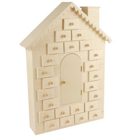 calendrier de l avent 224 d 233 corer maison en bois 42cm