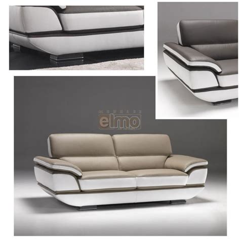canap 233 contemporain design moderne cuir bicolore option convertible