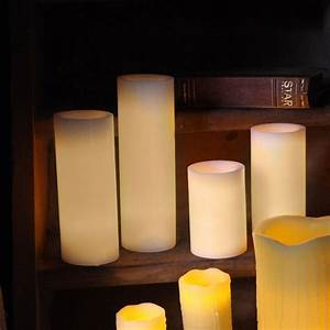 Flackernde Led Kerzen : led echt wachs kerze big mit timer flackernde flammenlose kerzen wax candle xl ebay ~ Markanthonyermac.com Haus und Dekorationen