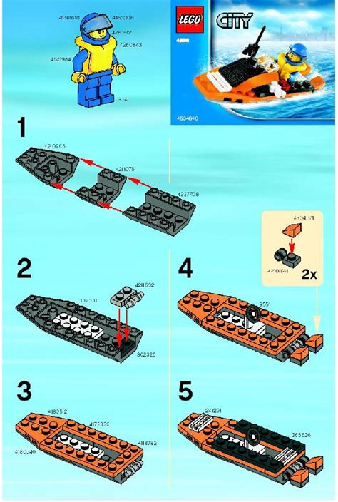 Lego Mini Boat Instructions by Lego Coast Guard Boat Instructions 4898 City Coast Guard