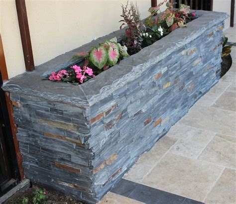 Rustic Sofas For Sale by Stone Ledger Planter Box Rustic Exterior Dallas By