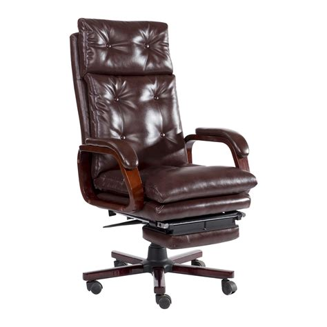 homcom high back pu leather executive reclining office