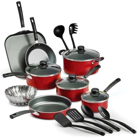 18 Piece Nonstick Pots And Pans Cooking Kitchen Cookware