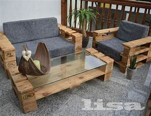 Outdoor Sofa Holz : lounge gartenm bel 2 sitzer palettenm bel terrasse vintage design balkon ah ap paletler ~ Markanthonyermac.com Haus und Dekorationen