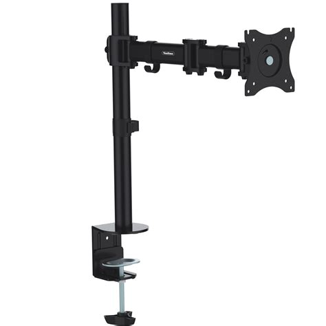 vonhaus single arm lcd led monitor desk stand mount for 13 27 screens ebay