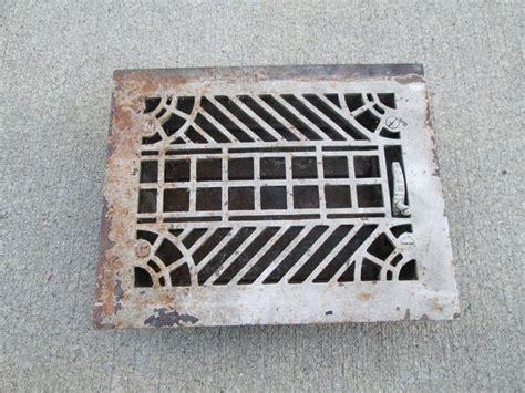 vintage metal furnace grate floor wall heater vent cover vent covers metals and vintage metal
