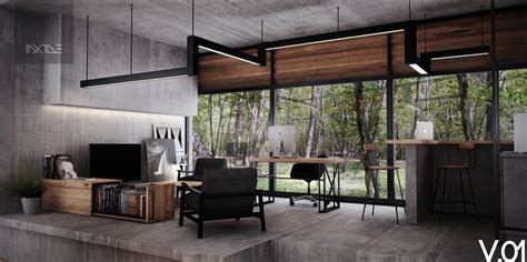 Industrial Home Style : Inspiring Industrial Style Home Offices That Sport