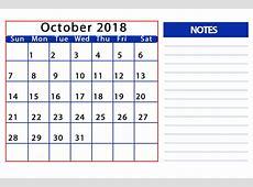 October 2018 Calendar Kalnirnay – Printable Calendar 20182019