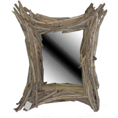 miroir bois flotte blanc mzaol