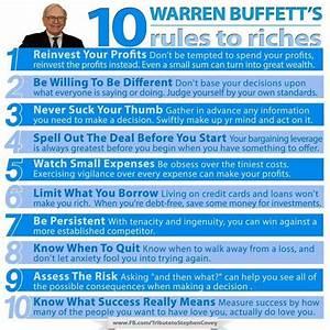 Warren Buffet's 10 Rules to Riches... # ...
