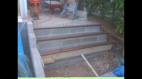 escalier de jardin en b 233 ton galet et bois