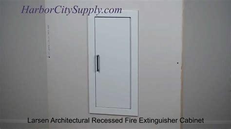larsen architectural series recessed extinguisher