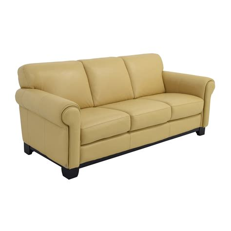 67 chateau d ax chateau d ax for macy s beige leather three seat cushion sofa sofas