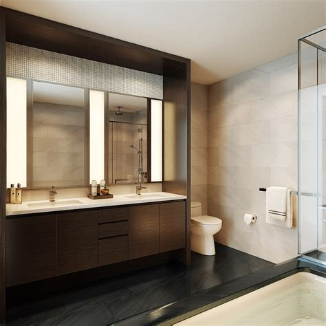 modern master bathroom with a relaxing ambiance wooden vanity home design and home