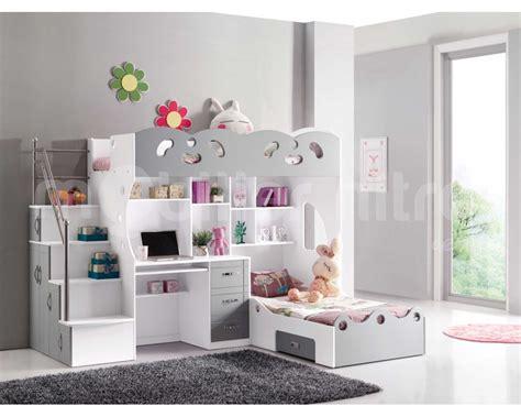 lit superpose avec bureau pour fille visuel 9