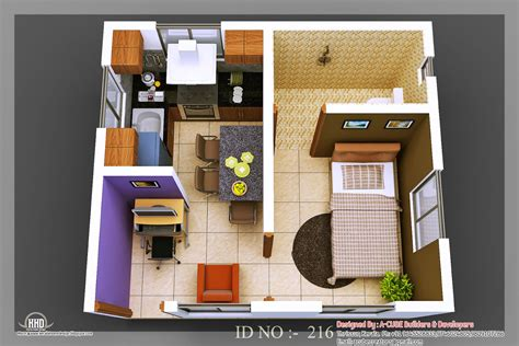 3d Design : 3d Isometric Views Of Small House Plans