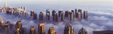 Dubai Over Fog  Linkedin Backgrounds  Get Some Inspiration