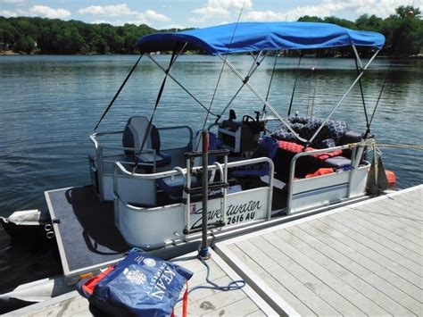 Used Pontoon Boats For Sale In North Jersey by Best 16 Pontoon Boat 9 9 Engine Trailer For Sale In