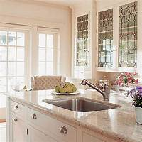 glass kitchen cabinets Bright Glass Front Kitchen Cabinet Doors   Spotlats