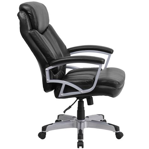 hercules series 500 lb capacity big black leather executive swivel office chair go 1850