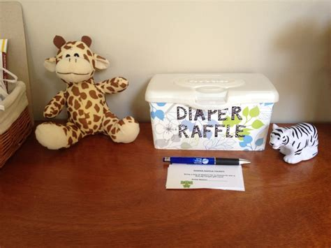 Diaper Raffle Put Tickets In Wipe Container