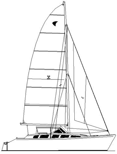 Catamaran Cruising Costs by Coral Sea 35 35 Ft Plywood V Hull Low Cost Cruising