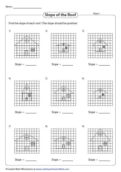 Slope Worksheets 7th Grade by 7th Grade Math Slope Worksheets With Answers 7th Best