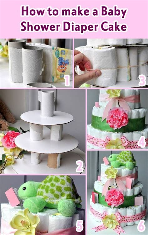 How To Make A Baby Shower Diaper Cake Babyideen
