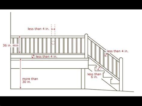Deck Stair Railing Code Heightdeck Stair Railing Code