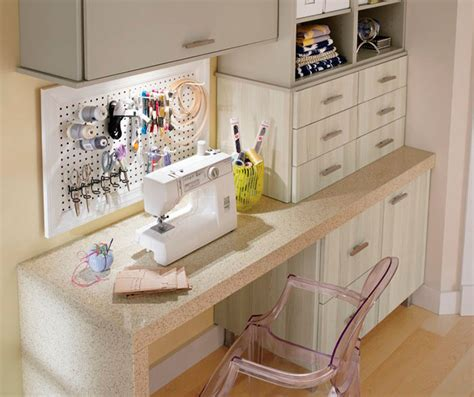 Craft Room Cabinets In Thermofoil  Kitchen Craft Cabinetry