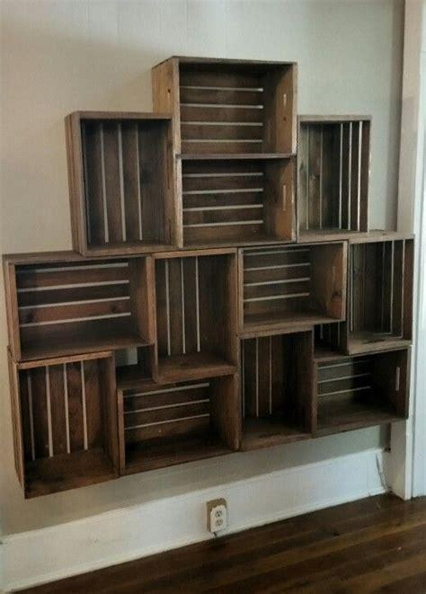 Floating Crate Shelving  Bookshelf Makeover Pinterest