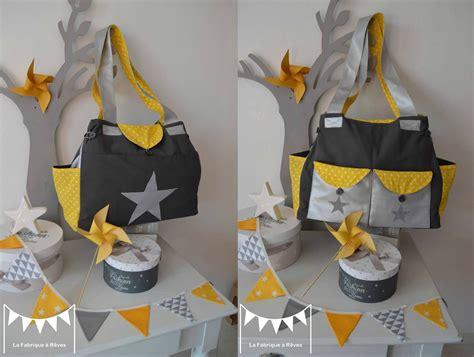 grand sac 224 langer b 233 b 233 fashion moderne nombreux rangements poches th 232 me 233 toiles pois jaune gris