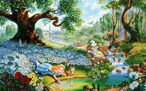 Alice In Wonderland Cartoon Hd Desktop Backgrounds  All