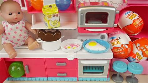 Baby Doli Kitchen And Food Toys Surprise Eggs Kinder Jo
