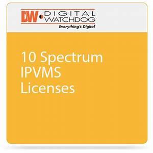 Digital Watchdog 10 Spectrum IPVMS Licenses DW-SPECTRUMLSC010