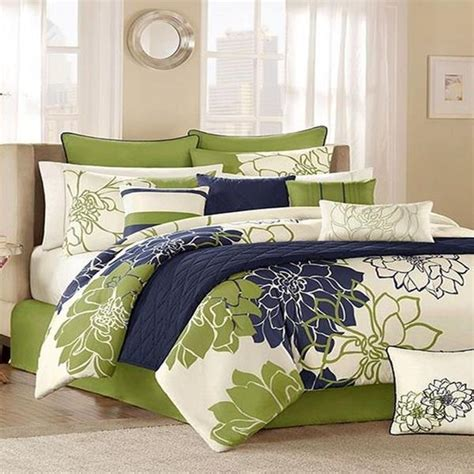 jla home lola blue 12 comforter bed in a bag
