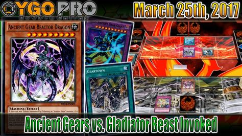 new ancient gear deck vs gladiator beast invoked ygopro