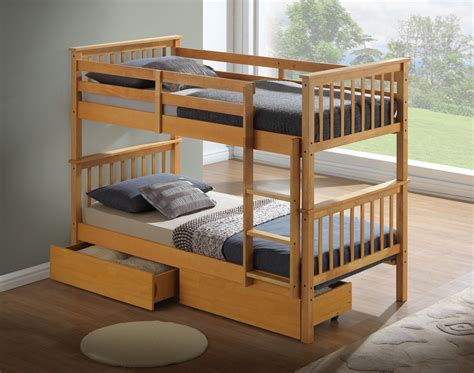 Boat Bed Double by Artisan New Wooden Bunk Bed Beech