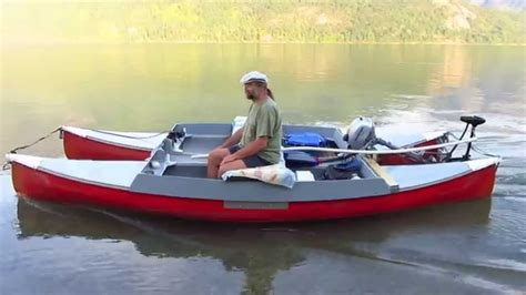 Catamaran Electric Engine by Electric Canoe Catamaran Youtube