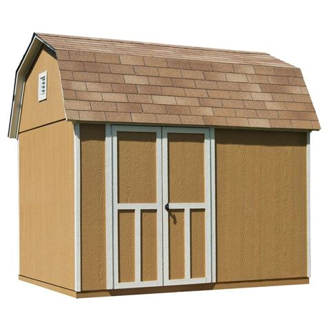 4 x 8 wooden storage shed handy home products briarwood 10 ft x 8 ft wood storage