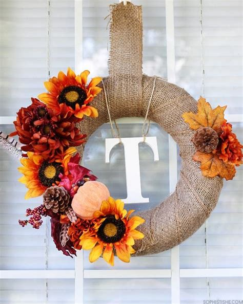 Remodelaholic  15 Diy Fall Wreaths To Decorate Your Home