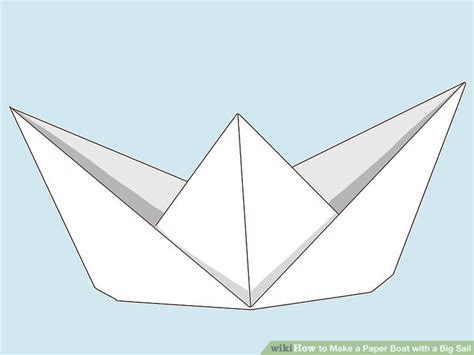 How To Make A Paper Boat Step By Step With Pictures by How To Make A Paper Boat With A Big Sail 12 Steps With