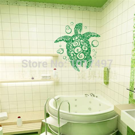 vinyl wall sticker large sea turtle turtle with