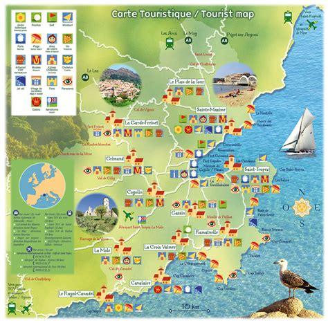 carte touristique du var voyages cartes