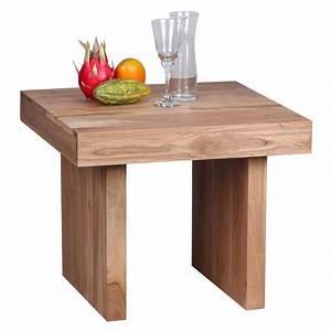 Küchentisch 60 X 60 : beistelltisch massiv holz akazie 60 x 60 cm wohnzimme ~ Markanthonyermac.com Haus und Dekorationen