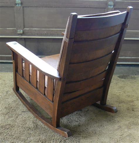 mission antiques charles stickley rocking chair